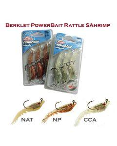 "Berkley PowerBait Pre-Rigged Rattle Shrimp 3"" / 3.5"" Soft Baits"