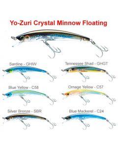 Yo-Zuri CRYSTAL 3D MINNOW (F) 90mm / 110mm / 130mm Hard Lures