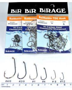 BiRAGE Chemically Sharpened Bait Holder Hooks
