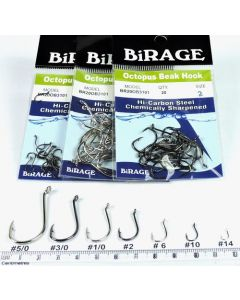 BiRAGE Chemically Sharpened Octopus Beak Hooks