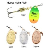 Mepps Aglia Plain Spinners (Sizes 0/1/2/3/4/5)
