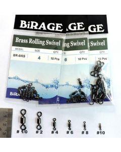 BiRAGE  Brass Rolling Swivels