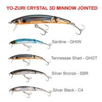 Yo-Zuri CRYSTAL 3D MINNOW JOINTED 100mm / 130mm Hard Lures
